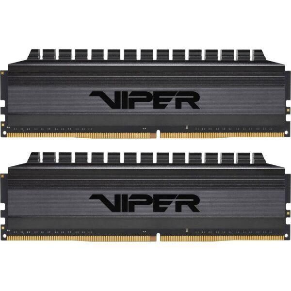 Модуль пам`яті Patriot DDR4 16Gb (2x8) Viper Blackout 3600 MHz (PVB416G360C7K), Unbuffered, 2, для настольных компьютеров, 16 Гб, Да, non-ECC, 1.35 B, Да, 28800, DDR4, 3600, CL17, Новий