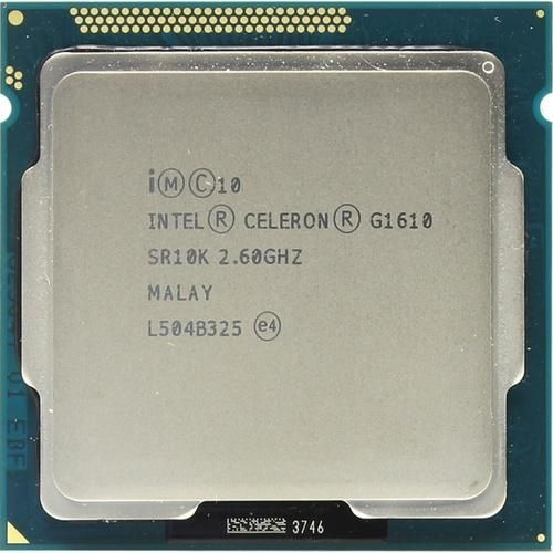 Процессор Intel Celeron G1610 (CM8063701444901), б/у, Socket 1155, Intel Celeron, 2, 2, 2600 МГц, Intel HD Graphics 3000, 55 Вт, 2 МБ, 22 нм, Tray