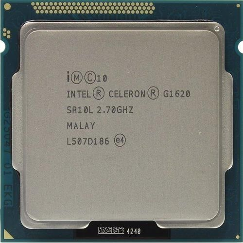 Процесор Intel Celeron G1620 (CM8063701445001), б/в, Socket 1155, Intel Celeron, 2, 2, 2700 МГц, Intel HD Graphics 3000, 55 Вт, 2 МБ, 22 нм, Tray