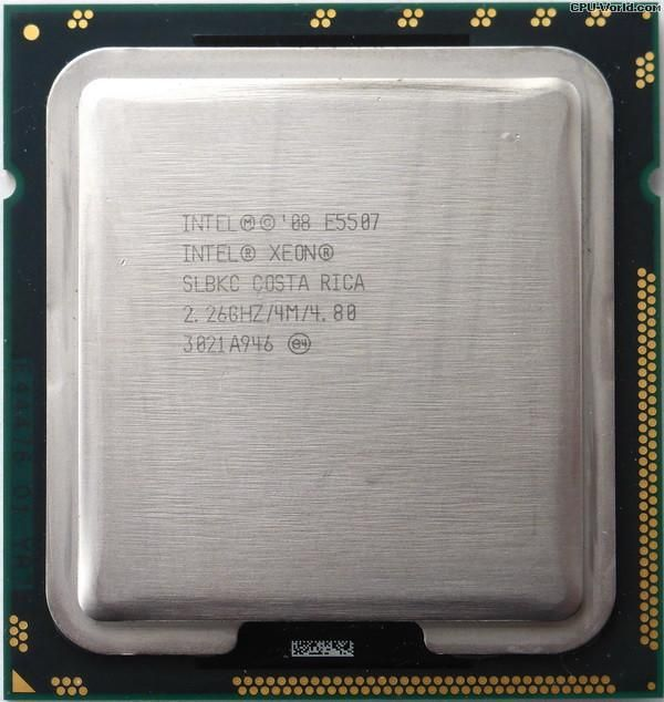 Процессор Intel Xeon E5507 (AT80602000795AA), б/у, Socket 1366, Intel Xeon, 4, 4, 2200 МГц, Нет, 80 Вт, 4 МБ, 45 нм, Tray