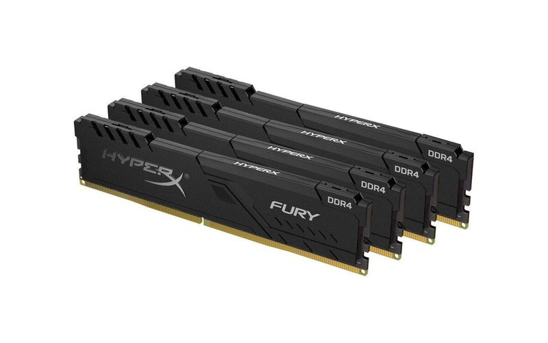 Модуль памяти Kingston DDR4 64Gb (4x16) HyperX Fury Black 2133 MHz (HX421C14FBK4/64), б/у, Unbuffered, 4, для настольных компьютеров, 64 Гб, Да, non-ECC, 1.35 B, Да, 17000, DDR4, 2133, CL14, б/у