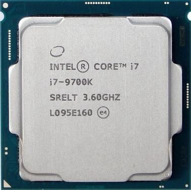Процессор Intel Core i7 9700K (CM8068403874215), б/у, Socket 1151-V2, Intel Core i7, 8, 8, 4,9 ГГц, 3600 МГц, Intel UHD Graphics 630, 95 Вт, 12 МБ, 14 нм