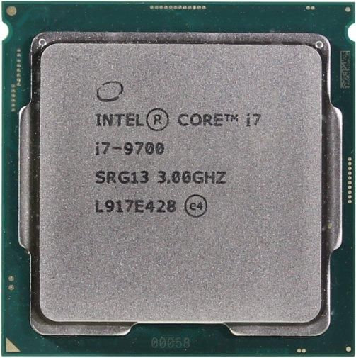 Процесор Intel Core i7 9700 (CM8068403874521), Socket 1151-V2, Intel Core i7, 8, 8, 4,7 ГГц, 3000 МГц, Intel UHD Graphics 630, 65 Вт, 12 МБ, 14 нм, Tray